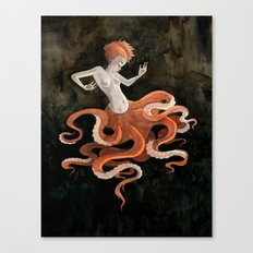 Octopus Mermaid Canvas Print