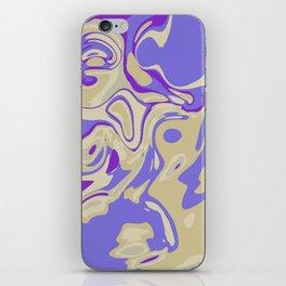 Acrylic Flow #3107 - Blu Berry Mofin iPhone Skin