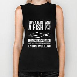 Give Man A Fish Fisherman Mens Funny Christmas Gift Angler Tackle Fish T-Shirts Biker Tank