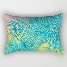Summer Palm Leaves Rectangular Pillow