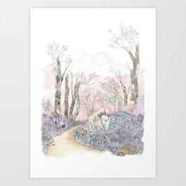 3/3 Magic Feral Woods Art Print