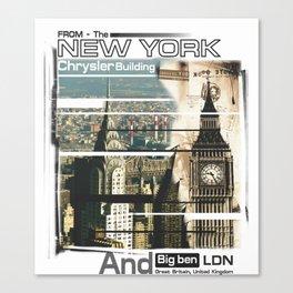 NY And LDN Canvas Print