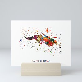 Saint Thomas Map Mini Art Print