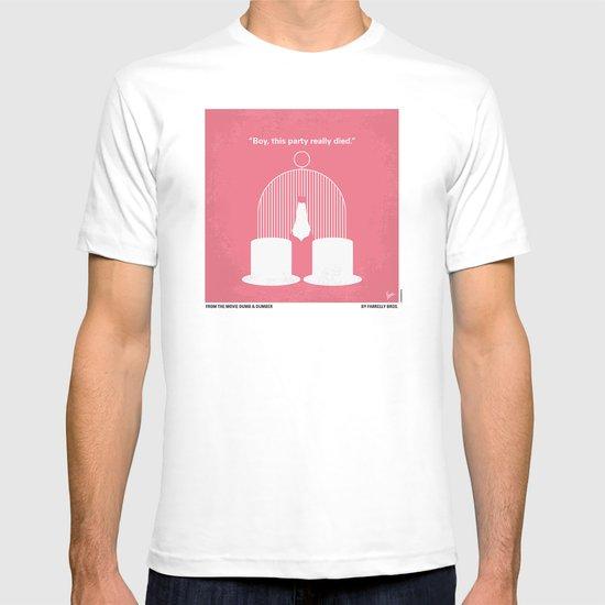 No241 My Dumb & Dumber minimal movie poster T-shirt