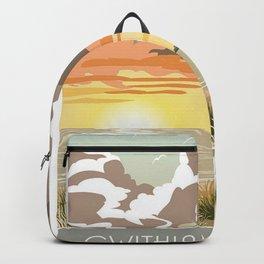 Gwithian Towans Beach Sunset print Backpack