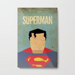 Superman Minimal Metal Print
