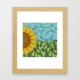 SUNNY DAY (abstract flowers) Framed Art Print