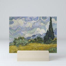 Wheatfield with Cypresses Mini Art Print