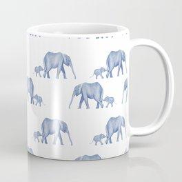 Blue elephant mother and baby Coffee Mug