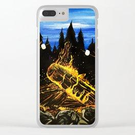 Camp Fire Clear iPhone Case