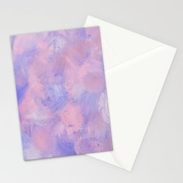 Abstract Pastel Blush Pink and Blue Stationery Cards