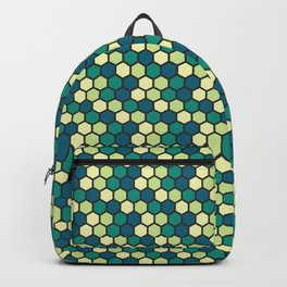 green honeycomb pattern Backpack
