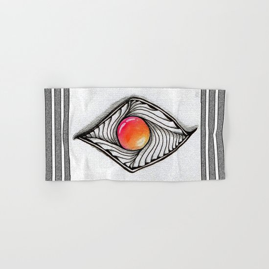 Doodled Gem Sparkle Eye Hand & Bath Towel