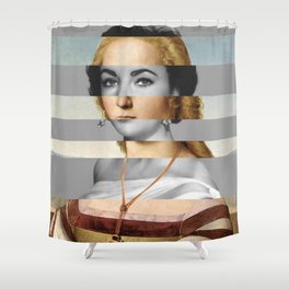 Raphael's Young Woman with Unicorn & Elizabeth Taylor Shower Curtain