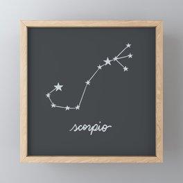 Scorpio - Zodiac Constellation Framed Mini Art Print