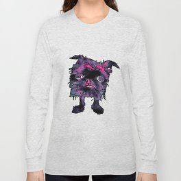 Lugga The Friendly Hairball Monster For Ghouls Long Sleeve T-shirt