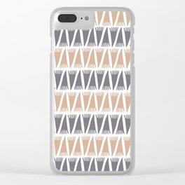 Tee Pee Hazelnut Clear iPhone Case