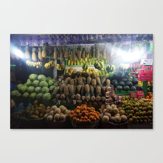 Fruit Stall Canvas Print