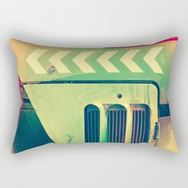 Road Roller Chevron 02 - Industrial Abstract (everyday 18.01.2017) Rectangular Pillow