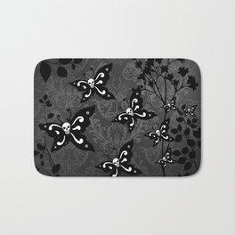 Skullerflies in the garden - dark scale Bath Mat