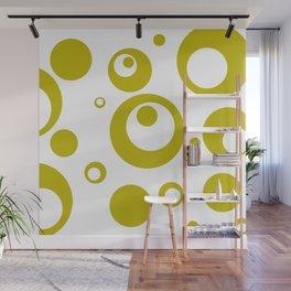 Circles Dots Bubbles :: Citron Inverse Wall Mural