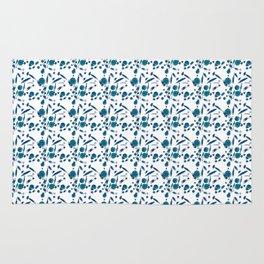 Blue Plankton Pattern Rug