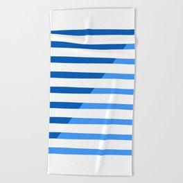 Beach Stripes Blue Beach Towel