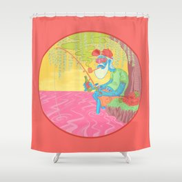 fisherman by the river Shower Curtain