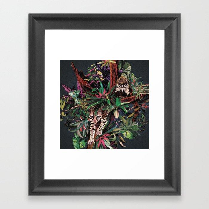 Rainforest corner Gerahmter Kunstdruck