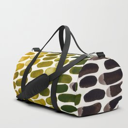Olive Green Yellow Ochre Colorful Primitive Pattern Watercolor Scales Abstract Duffle Bag