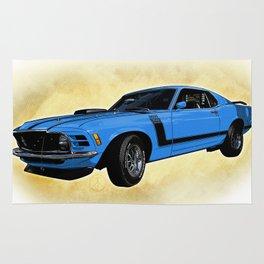 Ford Mustang Boss 302 - Grabber Blue Rug
