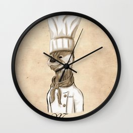 Chef Marcel Pascal Wall Clock