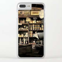 Vintage General Store 2 Clear iPhone Case