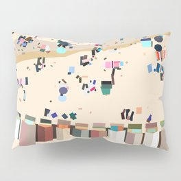 Geometric Brighton Beach bathing boxes, Melbourne, Australia Pillow Sham