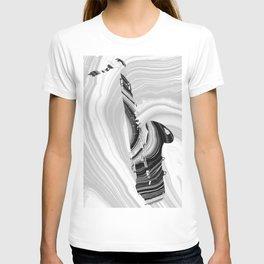 Marbled Music Art - Saxophone - Sharon Cummings T-shirt