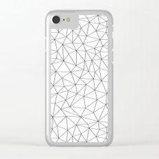 Low Pol Mesh (positive) Clear iPhone Case