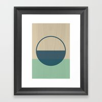 Half Circle Framed Art Print