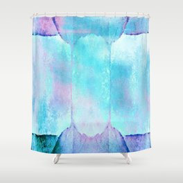 Crystal Grotto - Abstract Pastel Watercolor Shower Curtain