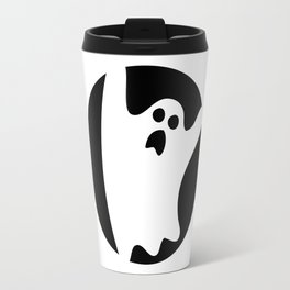 ghosty black Travel Mug