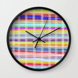 Madras Print Wall Clock