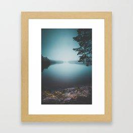 Lake insomnia Framed Art Print
