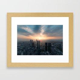 Sunset Frankfurt am Main Framed Art Print