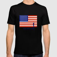 Yes we cam Black SMALL Mens Fitted Tee