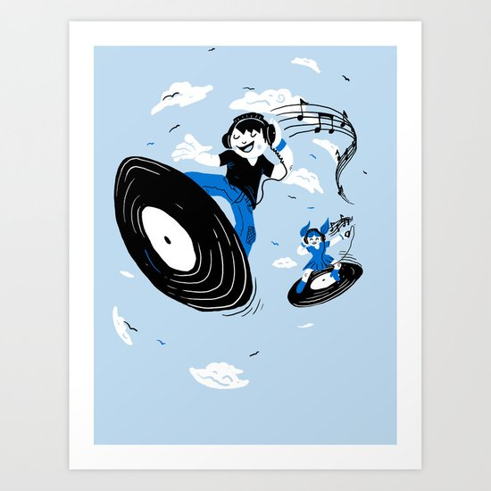Surfing the Beats Art Print