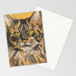 Honeysuckle Cat (Maine Coon Cat) Stationery Cards