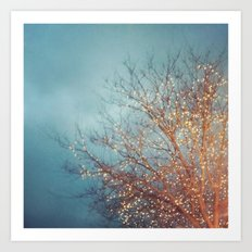 December Lights Art Print