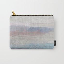 Dark Teal Blue, White, Pink, Light Blue Modern Wall Art, Ocean Waves Diptych Nursery Beach Decor Art Carry-All Pouch