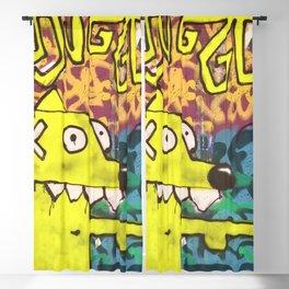Foxy yellow Blackout Curtain