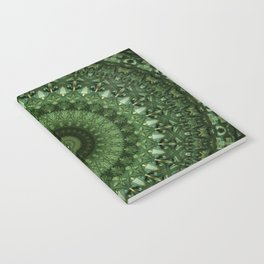 Mandala in olive green tones Notebook