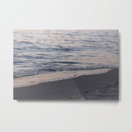 Line of water and sand / 51 Metal Print